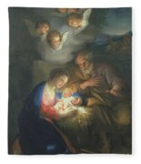 Nativity Scene Fleece Blanket