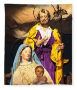 Christmas Nativity Scene Fleece Blanket