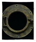 Natuical - Brass Porthole Fleece Blanket