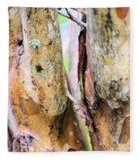 Natural Abstract Crepe Mertle Fleece Blanket