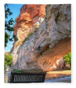 Natural Bridge Fleece Blanket