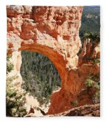 Natural Bridge  Bryce Canyon Fleece Blanket