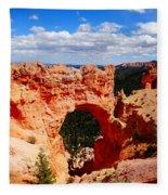 Natural Bridge In Bryce Canyon National Park Fleece Blanket