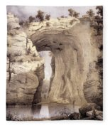 Natural Bridge, Rockbridge County Fleece Blanket
