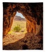 Natural Cave Above The Valley Of Fire Fleece Blanket