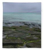 Natural Forming Pentagon Rock Formations Of Kumejima Okinawa Japan Fleece Blanket