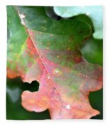 Natural Oak Leaf Abstract Fleece Blanket
