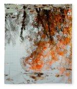 Natural Paint Daubs Fleece Blanket