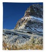 Natural Picture Frame Fleece Blanket
