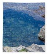 Natural Pool Of Seawater Fleece Blanket