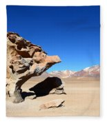 Natural Rock Sculpture Fleece Blanket