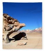 Natural Rock Sculpture Fleece Blanket