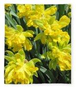 Naturalized Daffodils On The Farm Fleece Blanket