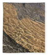 Nature Abstract - Clear Lake Tahoe Water  Fleece Blanket