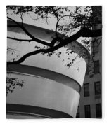 Nature And Architecture In Black And White Fleece Blanket