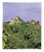 Nature And Medieval Ruins Fleece Blanket