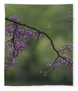 Nature Does Not Hurry Blossoms In Purple Fleece Blanket