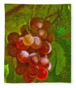 Nature Goodness Grapes On The Vine Fleece Blanket
