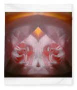 Nature In Abstract Camellia Fleece Blanket