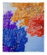 Nature In Its New Colors Fleece Blanket