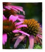 Nature Made Echinacea Fleece Blanket
