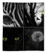 Nature Squares - Collage Fleece Blanket