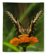Nature Stain Glass Fleece Blanket