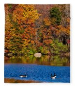 Natures Colorful Autumn Fleece Blanket