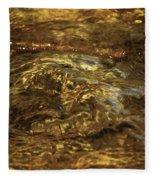 Natures Fresh Water Fountain Fleece Blanket