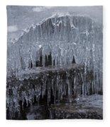 Natures Frozen Cathedral Sculpture Fleece Blanket