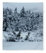 Natures Handywork - Snowstorm - Snow - Trees Fleece Blanket