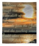Natures Melody With Text Fleece Blanket