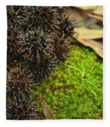 Nature's Moss And Sweetgum Pods Fleece Blanket