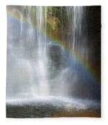 Natures Rainbow Falls Fleece Blanket