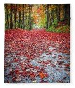 Nature's Red Carpet Fleece Blanket