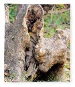 Nature's Wood Abstract Fleece Blanket