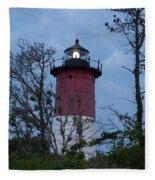 Nauset Lighthouse Amid The Scrub Pines Fleece Blanket