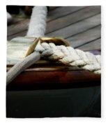 Nautical Textures Fleece Blanket