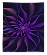 Nautilus Fractalus Moongarden Fleece Blanket