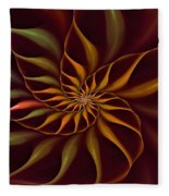 Nautilus Fractalus Tropical Fleece Blanket