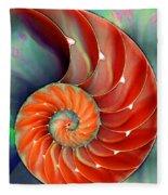 Nautilus Shell - Nature's Perfection Fleece Blanket