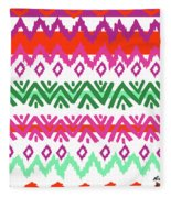 Navajo Mission Round Fleece Blanket