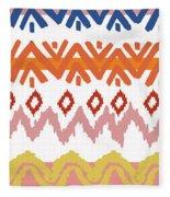 Southwest Pattern IIi Fleece Blanket