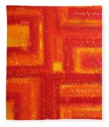 Navajo Rug Original Painting Fleece Blanket