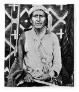 Navajo Shaman, C1880 Fleece Blanket