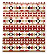 Navajo White Pattern Fleece Blanket
