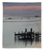 Navarre Beach Sunset Pier 30 Fleece Blanket