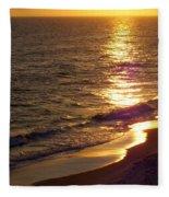 Navarre Sunset Surf Fleece Blanket