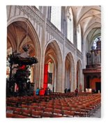 Nave Of The Church Of Our Lady Fleece Blanket