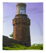 Navesink Twin Lights Lighthouse Fleece Blanket